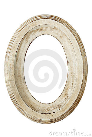 Distressed Oval Picture Frame
