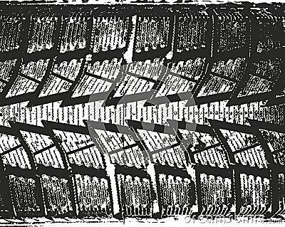 Distressed overlay texture of rusted peeled metal Cartoon Illustration