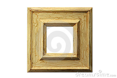 Distressed paint frame