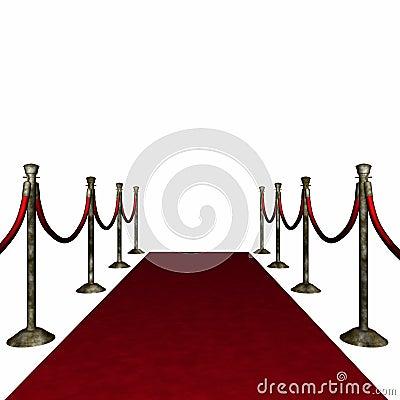 Distressed Red Carpet