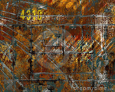 Distressed  scratched rusted metal