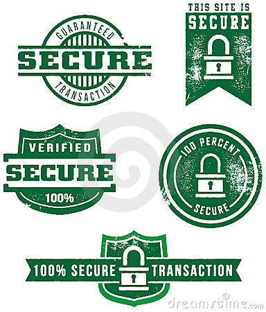 Distressed Web Secure Badges