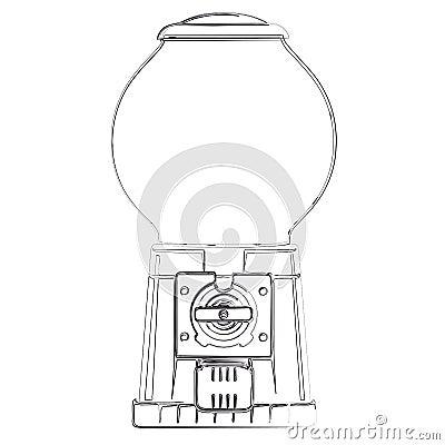 Distributeur automatique de boule de gomme illustration de vecteur image 44077512 - Font des boules de gomme ...