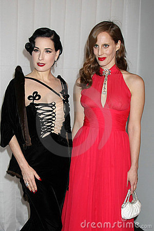Dita Von Teese, Liz Goldwyn Editorial Stock Photo