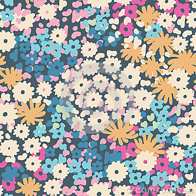 Ditsy popcorn floral ~ seamless