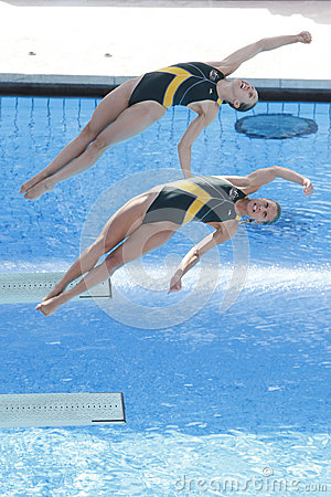 DIV: World Championship 3m women s Sychronised final Editorial Stock Photo