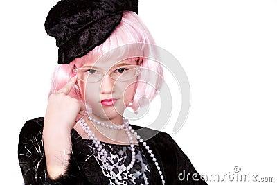 Diva Wearing Specs