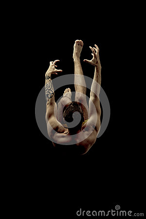 Free Dive, Falling. Stock Photos - 92407753