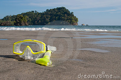 Dive Mask on Beach