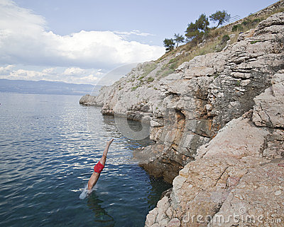 Dive in the Adriatic sea