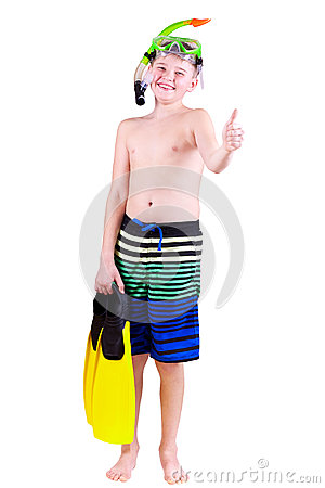 Free Diver Boy Royalty Free Stock Images - 30375619