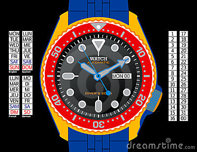 Diver s Watch - Colour