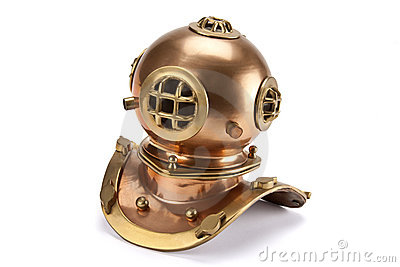 Divers Helmet - Isolated