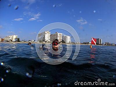 Divers at Surface