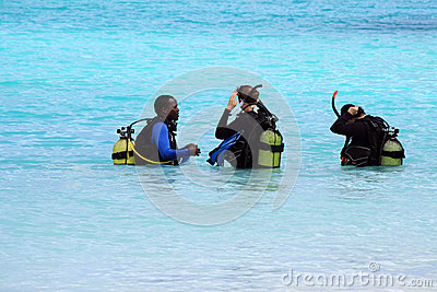 Divers during training Editorial Stock Photo