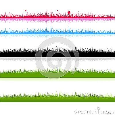 Diversa silueta de los campos de hierba
