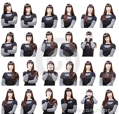 Diversas expresiones faciales