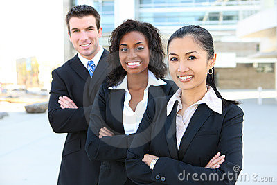 Diverse Attractive Business Team