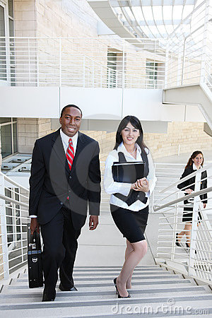 Diverse Business Man and Woman Team