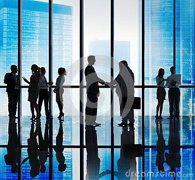 Diverse Business People Handshake Office Concepts