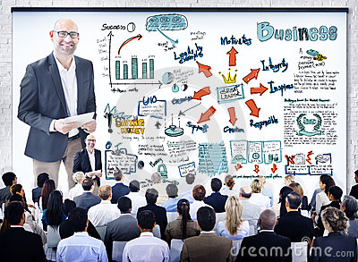 Diverse Business People in a Leadership Seminar