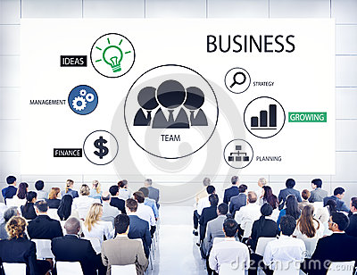 Diverse Business People in a Seminar About Team