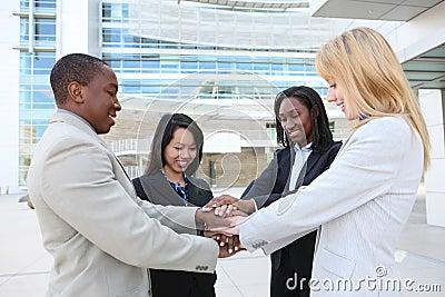 Diverse Business Team Celebrating