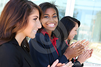 Diverse Business Team Clapping
