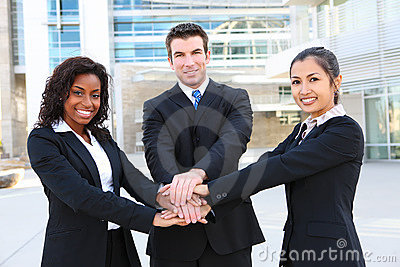 Diverse  Business Team (Focus on Man)