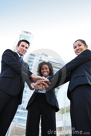 Diverse  Business Team (Focus on Man)
