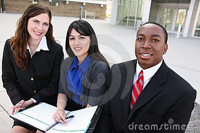 Diverse Business Team (Focus on Middle Woman)
