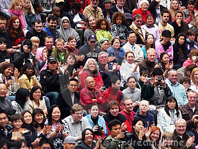 Diverse crowds in the Scoop at the River Thames Fe Editorial Stock Image