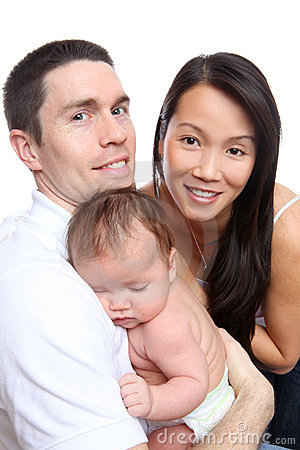 Diverse Family with Baby