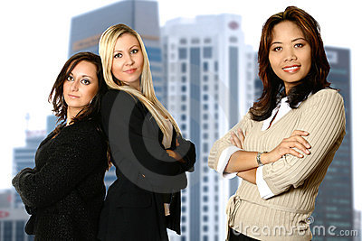 Diverse female business team