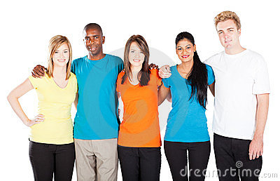 Group Of Diverse People Holding Word Friends Stock Photo | Thinkstock