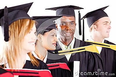 Diverse graduates group