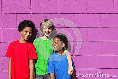 Diverse group kids