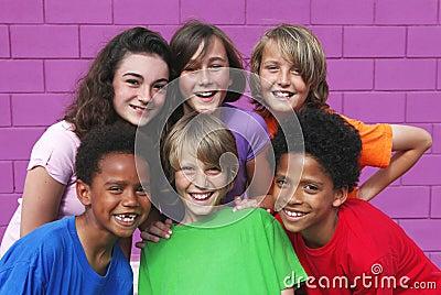 diverse kids, children