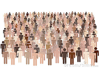 Diverse population people group