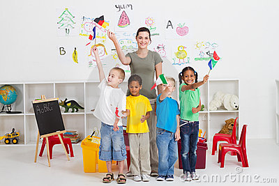 Diverse preschool students