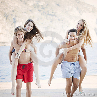 Diverse teens