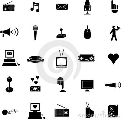diverse vector symbols or icons set