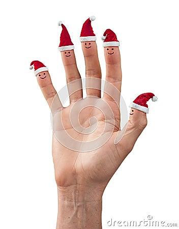 Diversión de la mano de la Navidad