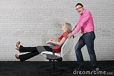 Diversión en la oficina