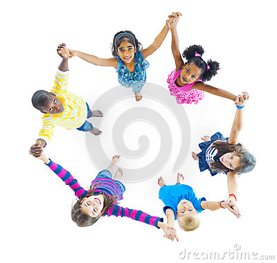 Free Diversity Children Holding Hand Friendship Playing Concept Royalty Free Stock Photography - 50289067