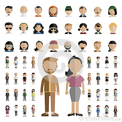 Free Diversity Community People Flat Design Icons Concept Stock Photo - 72171190