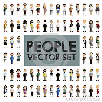 Free Diversity Community People Flat Design Icons Concept Stock Photos - 72276733