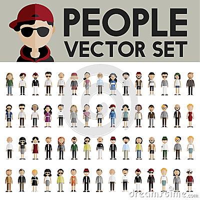 Free Diversity Community People Flat Design Icons Concept Stock Photo - 72276750
