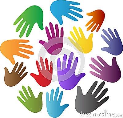 Diversity hands Vector Illustration