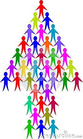 Free Diversity People Arrow/eps Stock Photos - 9036893